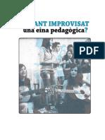 El Cant Improvisat Una Eina Pedagogica