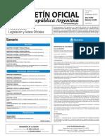 Boletín Oficial de la República Argentina, Número 33.454. 05 de septiembre de 2016