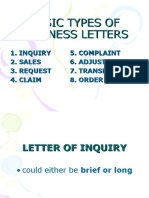 Basic Types of Business Letters