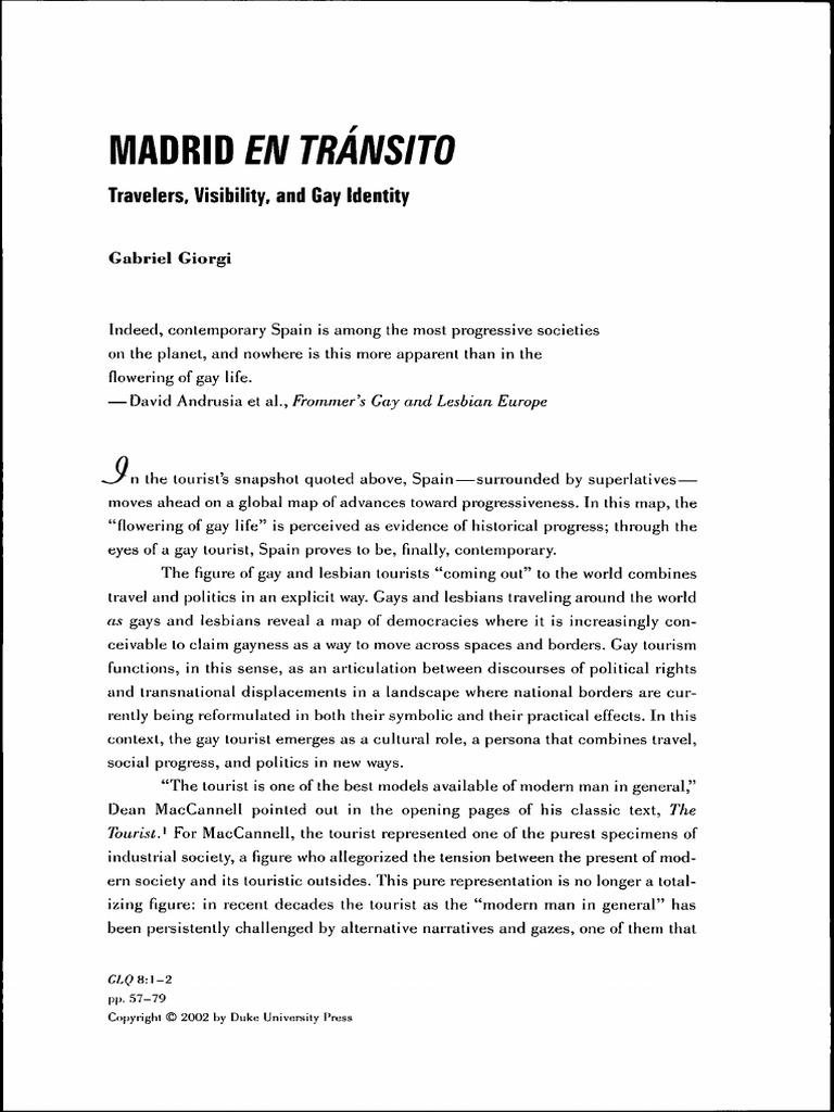 La movida madrilena homosexuality statistics