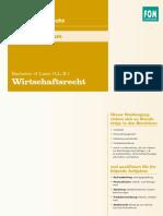 Handout Bachelor of Laws Ll b in Wirtschaftsrecht 832