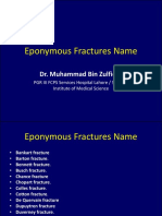 Eponymous Fractures Name