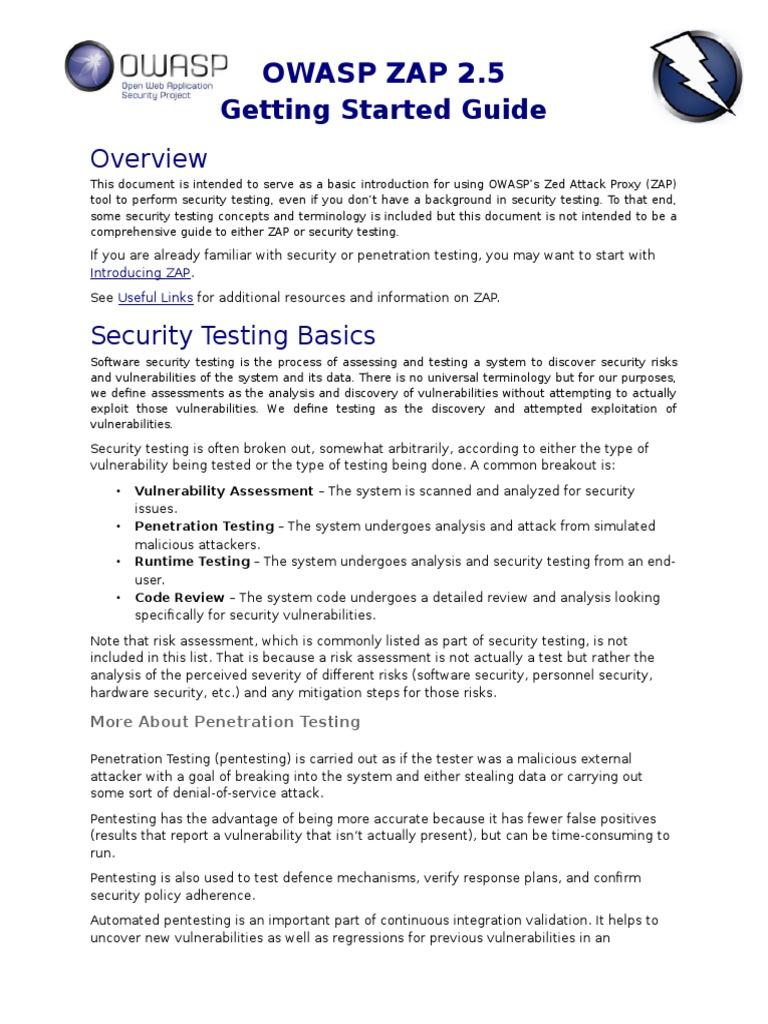 Zapgettingstartedguide 25 Penetration Test Proxy Server