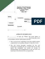 Affidavit of Desistance-draft