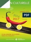 programme de la saison culturelle 2016 - 1017 de la Communauté de Communes Avranches Mont-Saint-Michel
