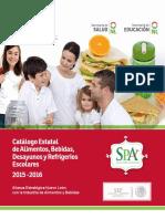 Catalogo Estatal de Alimentos Bebidas Desayunos y Refrigerios Escolares 2014- 2015 1