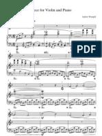 "Piece for Violin and Piano ""Voyage"""