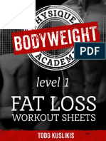 BPA Fat Loss Workout Sheets Month 1