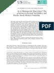 Fundamentals or Managerial Discretion
