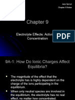 Electrolyte Effects Activity or Concentration Not Mine