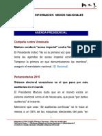 13.11.2015.- Informacion Medios Nacionales