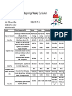 Weekly Curriculum Sep 5-9 '16