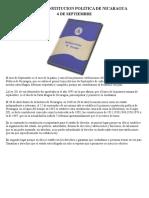 Dia de La Constitucion Politica de Nicaragua