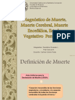 Diagnostico de Muerte - Estado Vegetativo Persistente