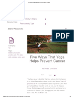Five Ways That Yoga Helps Prevent Cancer _ Kripalu