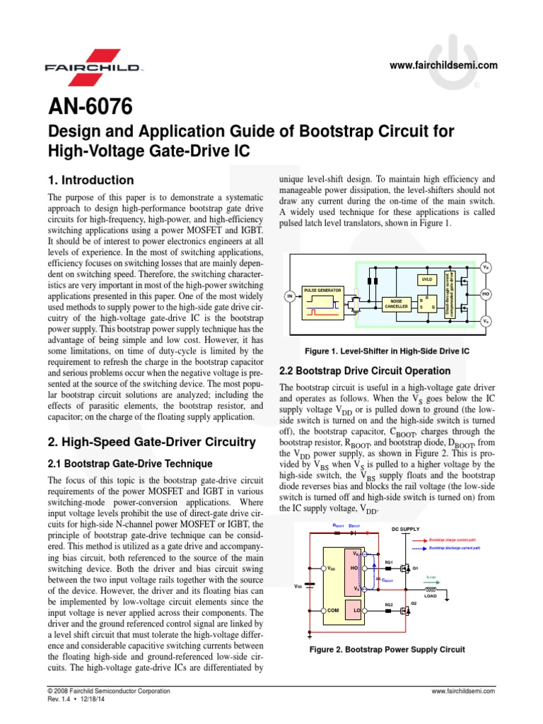 An 6076 Capacitor Field Effect Transistor Level Shifter Circuit