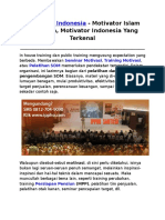 Motivator Indonesia, Motivator Islam Indonesia, Motivator Indonesia Yang Terkenal