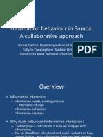 information behavior in samoa