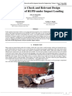 Performance Check and Relevant Design Modifications of RUPD under Impact Loading