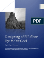 Designing of FIR Filter