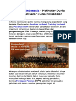 Motivator Indonesia, Motivator Dunia Islam, Motivator Dunia Pendidikan