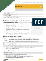Checklist Supplier Debrief