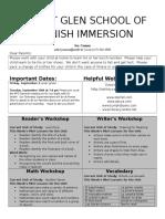 kindergarten newsletter 16-8-29