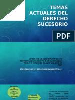 TEMAS ACTUALES DERECHO DE SUCESIONES PPT