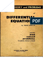 (Schaum's Outline Series) Jr. Frank Ayres-Theory and Problems of Differential Equations Including 560 Solved Problems-Schaum Publishing (1952)