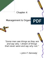 Chap 4 - Management & Organization