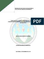 Creacion de la Unidad Administrativa de Recursos Humanos En una Empresa Con Funciones de Almacen de Deposito.