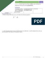 Alg 1 - Lesson 1.3 - Unit 1