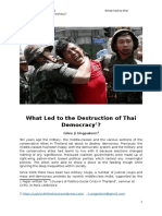 What Led to the Destruction of Thai Democracy