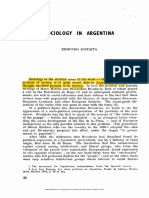 Sustaita - Sociology in Argentina - 1963
