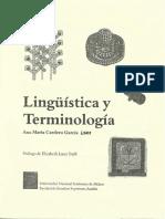Lingüística y Terminología (Cardero)