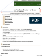 India Yearbook Mock Test #1_ Chapter 1 to 12 for UPSC Prelims