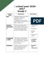 term 1 school year 2016