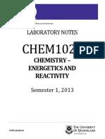 CHEM1020 s1 2013 Lab Manual