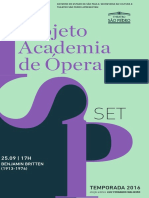 Programa de Sala   Academia de Ópera   Setembro II