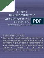 Capitulo 1 Planeamiento y Organizacion de Los Trabajos