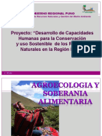 Agro ecologia y soberania alimentaria