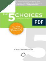 5 Choices Mini Book