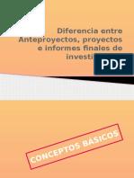 3-Anteproyecto o Proyecto e Informe Finale