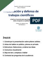 Tema 3. Presentación y Defensa de Trabajos Científicos