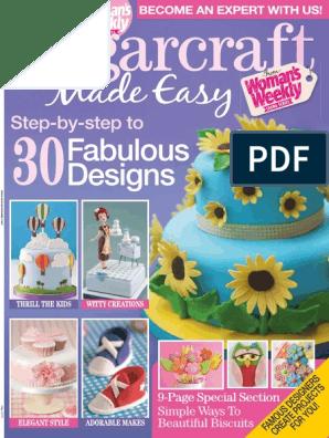 4x Peony Flower Cake Fondant Plunger Cutter Decorating Mold Sugarcraft Baking JA
