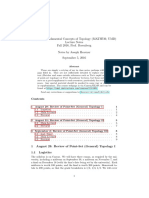 Math 730 (Graduate Topology, UMD) Notes (Sept. 2016)