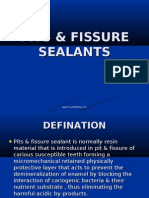 Pit Fissure Sealants Pedo