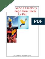 Convivencia Escolar y Decálogo Para Hacer La Paz