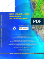 Recent Researches in Energy, Environment and Sustainable Development