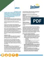 uv radiation information sheet